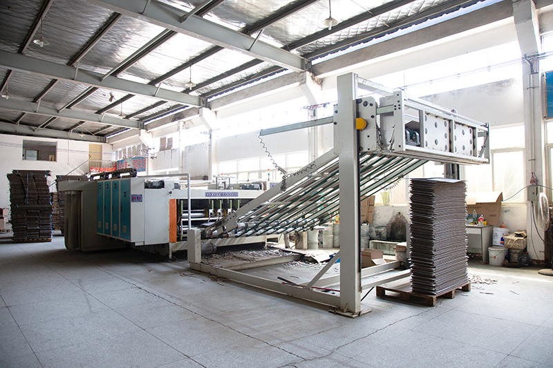 三色前缘送纸带开槽纸箱印刷一体高速机